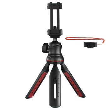 "abb Image - Hama, ""Solid II, 21B"" Table Tripod, with ""BRS2"" Bluetooth® Remote Trigger"