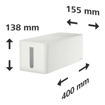 "det Detail - Hama, ""Maxi"" Cable Box, 40.0 x 15.6 x 13.5 cm, white"