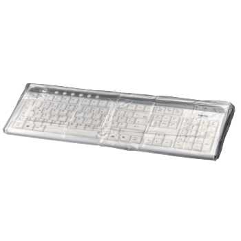 abb2 Image 2 - Hama, Protective Dust Cover for Keyboards, transparent