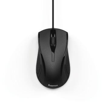 "abb2 Image 2 - Hama, ""MC-200"" Optical 3-Button Mouse, Cabled, black"