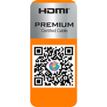 In-house test and quality seal , HDMI™ PREMIUM Cerified Cable