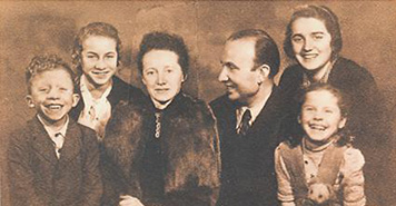Hanke family, with Rudolph Hanke on the left