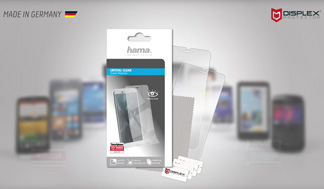 "Hama ""Crystal Clear"" Display Protection Foil with the Easy-On® mounting"